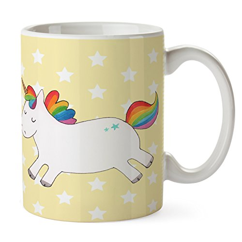 Mr. & Mrs. Panda Variante Tasses Licorne Happy OT Jaune pastel