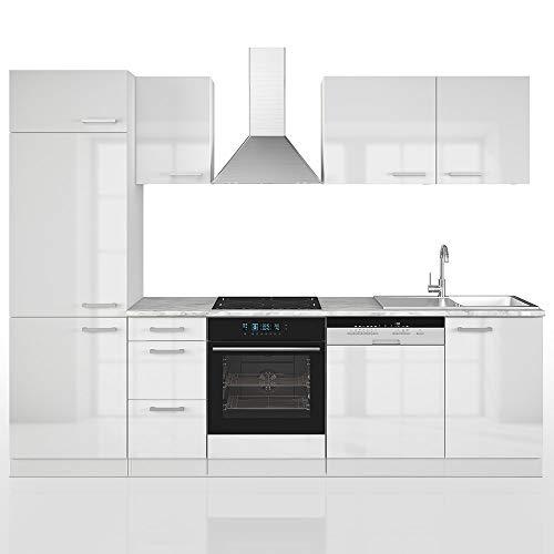 Vicco Küche 270 cm Küchenzeile Küchenblock Einbauküche Komplettküche - Frei Kombinierbar