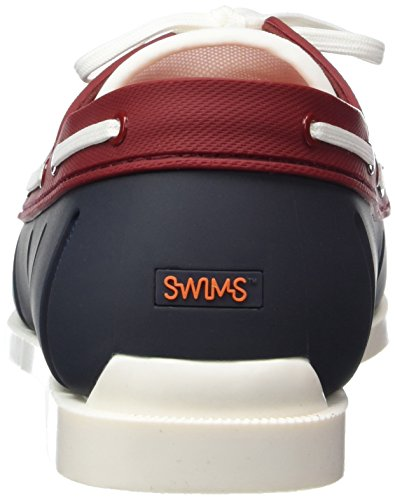 Swims Boat Loafer Herren Bootsschuhe Mehrfarbig (Navy/Red 131)