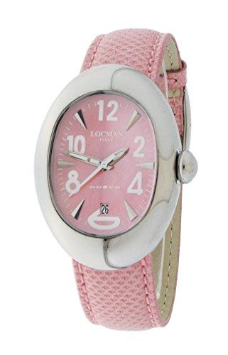 Locman Nuovo / orologio donna / quadrante rosa / cassa acciaio / cinturino pelle vero varano rosa