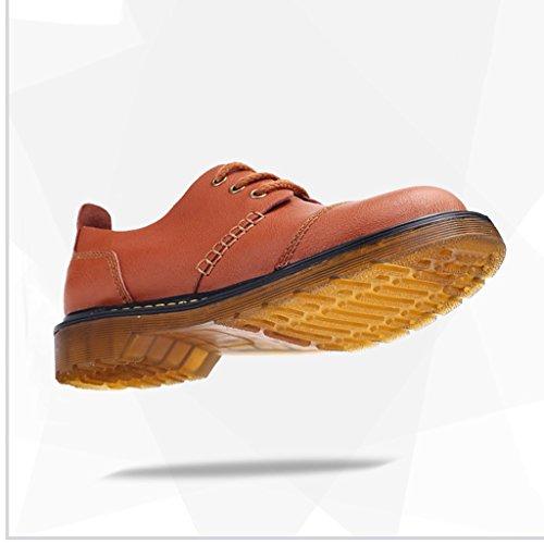2017 Autunno Inverno Scarpe In Pelle Business Casual Scarpe Da Passeggio Low-Top Tooling Boots 38-43 Light Brown