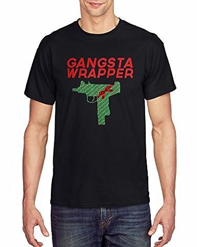 Christmas Inspired Funny Gangsta Wrapper Joke Graphic Homme T-shirt XXL