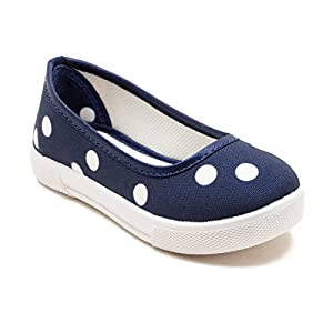 Begetter The Inceptioner Girls Navy Canvas Ballet Flats