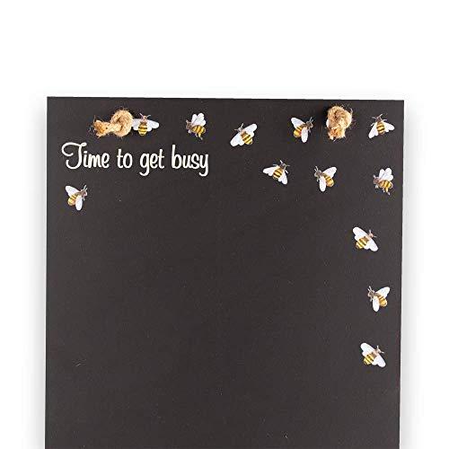 Legno Cabine Design Range Chalkboards UK Nero e Bianco polli Stampato Alto Sottile Lavagna//Lavagna//memo Board//Cucina 60/x 26.5/x 1/cm Vassoio e Gesso con Corda Nero