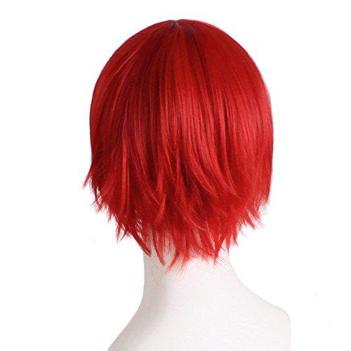 Luckhome Perücke Kurz Gerade Bob Synthetik Perücken Abgestufte Farbe Cosplay Beginnen Sie Das Leben In Einer Anderen Welt Kostüm Spielen Halloween Perrücke Wig Haare Wigs(H)