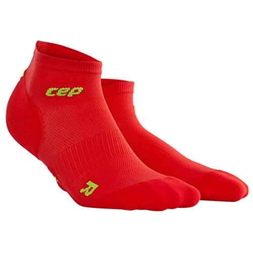 Paar Low Cut Sock (CEP Herren Ultralight Low Cut Socks Men, Rot, III)