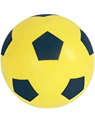 HTI Toys Size 5 Soft Sponge Foam Football Indoor & Outdoor Use For Kids and Adults - Yellow