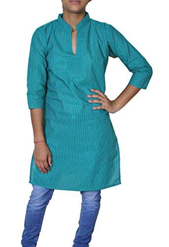 delle donne 100% camicia di cotone indiani sciolti -s t-shirt top a manica corta casuale