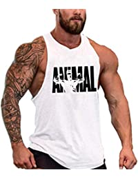 f14e2462634c COWBI Animal Palestra Canotta Bodybuilding Canottiera Senza Maniche Gym  Shirt