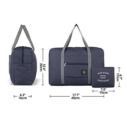 Leichte-Faltbare-Reisetasche-Handgepck-Tasche-Handgepaeck-Sporttasche-fr-Reisen-Weekender-Duffel-Frauen-und-Mdchen