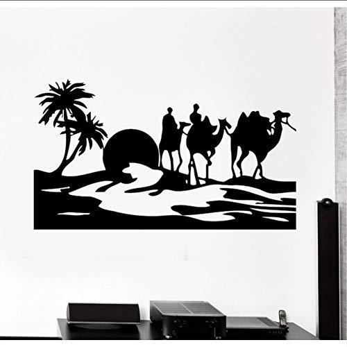 (Hjcmhjc) Kamel Wüste Oase Mirage Home Kunst Wandaufkleber Vinyl Wandtattoos Wohnzimmer...