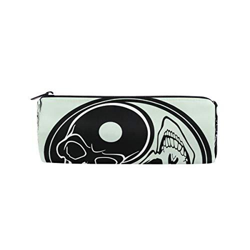 Elizabeth Geldbörse (Malpela Yin Yang mit Totenköpfen, runder Stifthalter)