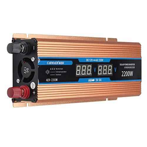 Carmaer AER-2200W Solar Power Inverter (Gold)