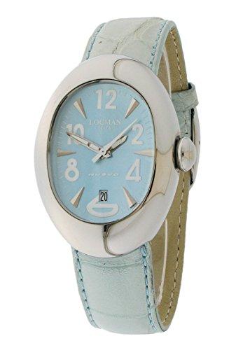 Locman Nuovo / orologio donna / quadrante madreperla / cassa acciaio / cinturino pelle alligatore azzurra