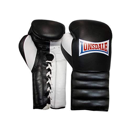 Lonsdale Erwachsene Barn Burner Boxhandschuh Mit Spitze, schwarz/Weiß, 18 oz