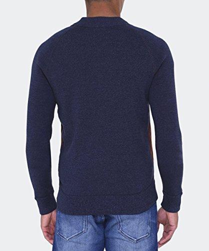 Hugo Boss Orange Hommes Arbomber tricot veste manches Bleu Foncé Bleu Foncé