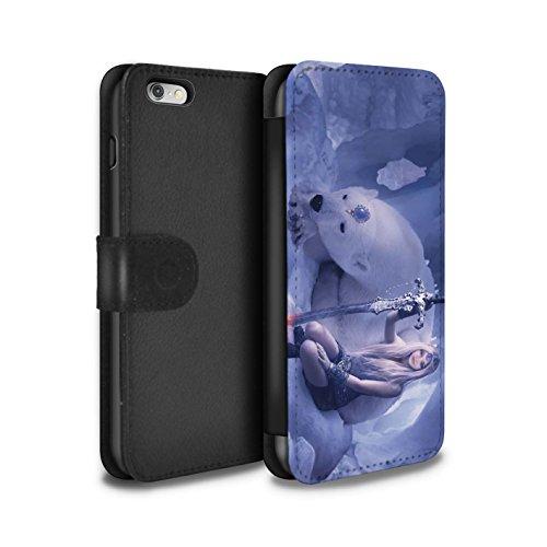 Officiel Elena Dudina Coque/Etui/Housse Cuir PU Case/Cover pour Apple iPhone 6+/Plus 5.5 / Cyborg Design / Super Héroïne Collection Reine des Glaces
