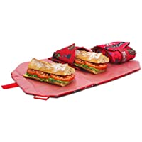 Roll'eat Boc'n'Roll KIDS Piratas - Porta Meriendas Reutilizable Libre de BPA - Color Rojo