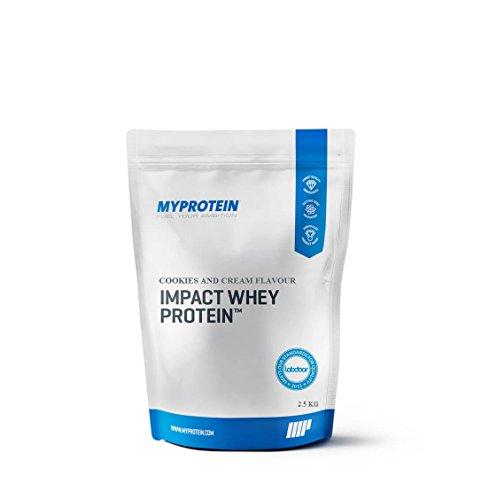 MyProtein Impact Whey Proteína de Suero, Sabor Cookies y Cream - 2500...