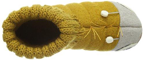 mostarda Amarelo Chinelos Unisexo 44 Haflinger Elevados Crianças Bobble wqXXvYU