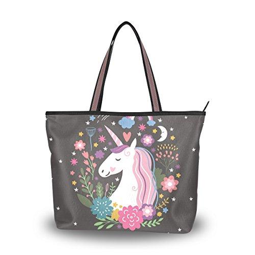 Ahomy Große Reisetasche Einhorn Are Real Beach Bag Urlaub Shopping Handtaschen, Mehrfarbig - multi - Größe: Medium