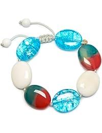 Lola Rose Women Blue Quartz Strand Bracelet of Length 18cm 716413