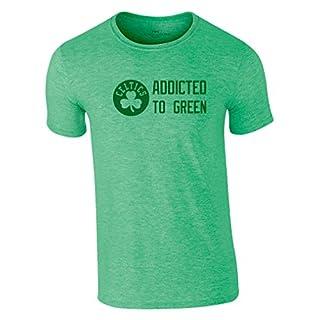 Celtics T-Shirt Addicted to Green Boston Jersey Basketball Trikot NBA (M)