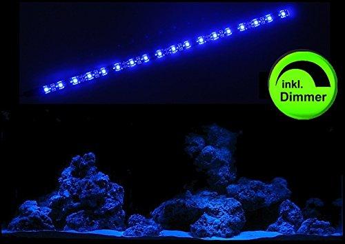 creative lights - Licht & Design Aquarium Mondlicht 30 cm LED LICHTLEISTE + DIMMER Komplettset INKL. NETZTEIL Flexi-Slim BLAU - Doppel-tank Bands