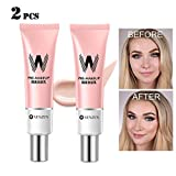 GL-Turelifes 2 Pack Porenprimer Make-up-Grundierung für das Gesicht Rosa Isolationscreme Unsichtbare Poren, Aknemarkierungen abdecken, glatte Haut, feuchtigkeitsspendende Essence Concealer Foundation