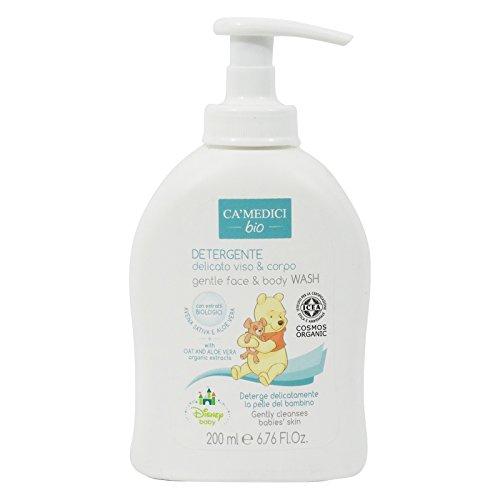CA MEDICI BIO - Disney Baby Baño Delicado Cara y Cuerpo para Bebés - con Extractos de Avena, Manzanilla - Made in Italy - 200 ml