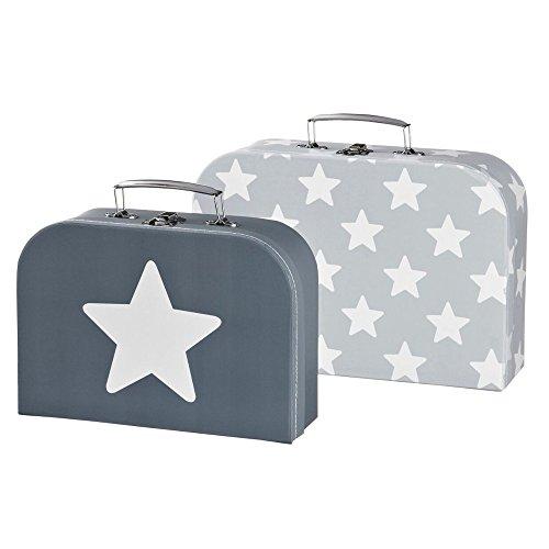 Preisvergleich Produktbild Kids Concept 310852 Koffer 2er-Set Star grau
