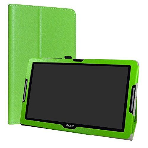 LiuShan Acer Iconia One 10 B3-A30 hülle, Folding PU Leder Tasche Hülle Case mit Ständer für 10.1