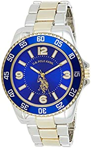U.S. Polo Assn. Men's Quartz Watch, Analog Display and Gold Plated Strap USC8