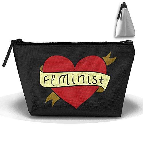 Bolso de Bolsa de Maquillaje cosmético Caja de lápiz de papelería de lápiz Feminista