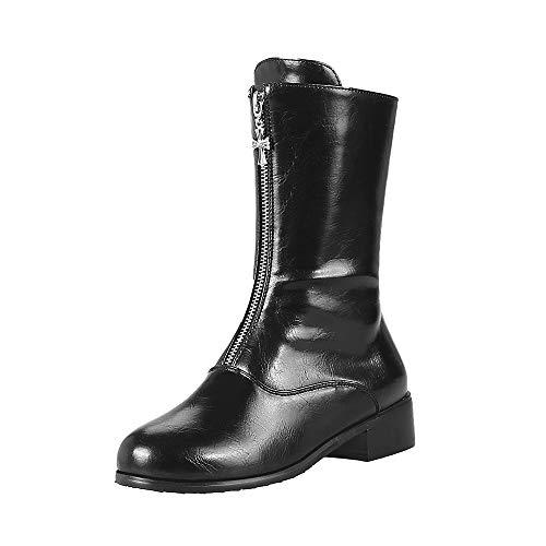 Chaussures d'hiver Chaud,ELECTRI Femmes Bottes de Neige Cheville Antidérapante Aide Faible Chaussures Plates Boots Femme Tube Court Automne d'hiver Couleur U