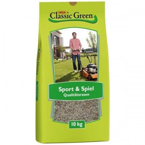Classic Green Sport- & Spielrasen 10kg, Rasensamen, Rasensaat