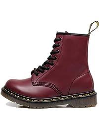 d865295b23804 Botas De Tobillo para Hombre Zapatos Bota De Cordones De Cuero De Forro  Caliente Botas De