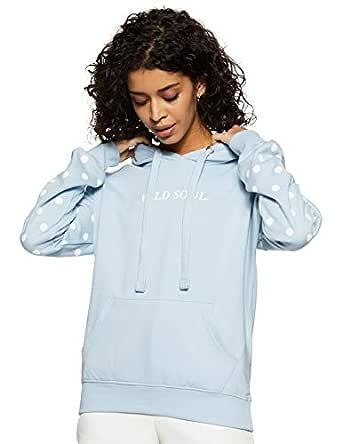 Amazon Brand - Symbol Women's Cotton Sweatshirt (AW18WNSSW33_Sky Blue_X-Small)