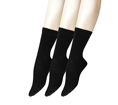 FALKE Damen Socken Family Bundle, 3er Pack, Schwarz (Black 3009), 39/42