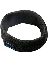 A-SZCXTOP Waschbare Bluetooth Audio Musik Beanie Winter Stirnband mit Lautsprecher-Kopfhörer Mikrofon-Hände Freie Unterstützung für Handys, Iphone, iPad, Android Smartphones (Dunkelgrau)