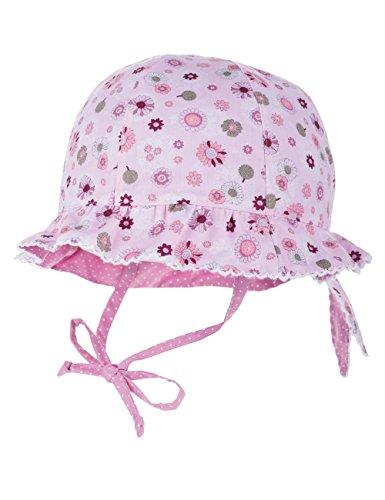 maximo Mädchen Mütze Hut mit Krempe, reversible, Bindeband, Gr. 51 cm, Mehrfarbig (zartrosa blüten/hellmauve 1910)