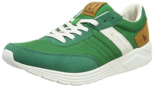 FLY London Shya955fly, Sneakers Basses Homme Vert (Green/White 002)