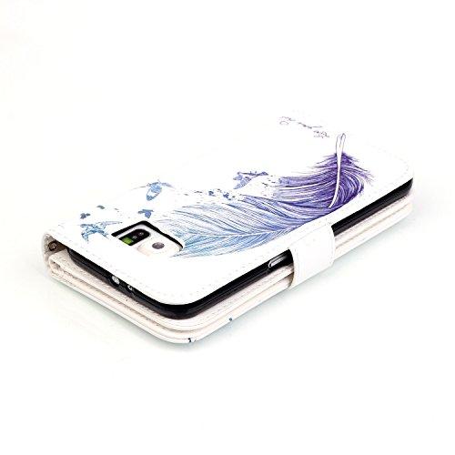 Cover Galaxy S6 Edge Custodia , Retro Diamante strass Design Con Cinturino da Polso Magnetico Snap-on Book style Internamente Silicone TPU Custodie Case in pelle Protettiva Flip Per Samsung Galaxy S6  Modello 08