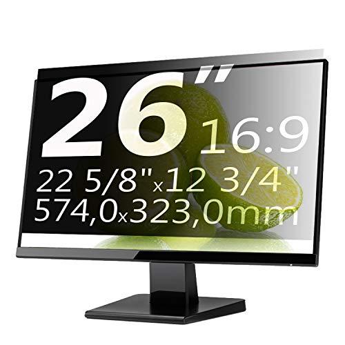 Xianan 26 Zoll 16:9 Breitbild Bildschirmfilter Displayfilter Displayschutz Blickschutzfolie Sichtschutzfolie Privacy Filter 22,6x12,72zoll/574x323mm