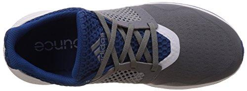 adidas Energy Bounce 2 M, Scarpe da Corsa Uomo, 49 1/3 EU Multicolore (Gris / Blanco / Azul (Gris / Ftwbla / Eqtazu))