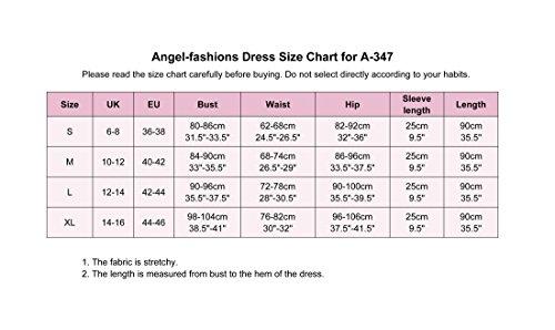 Angel fashions Da donna Fuori dalla spalla Mezza manica Body Con Attivit¨¤ commerciale Abito da cocktail Blu