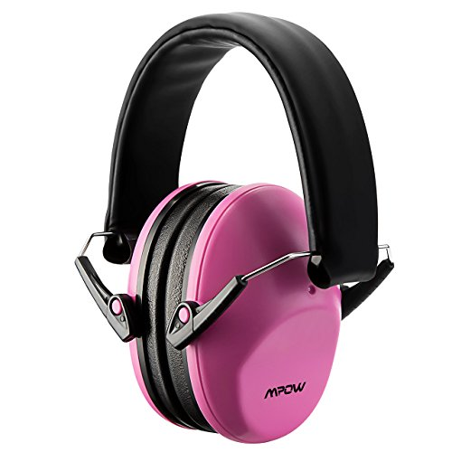 Mpow Casque Antibruit Enfant Adulte Pliable SNR 34dB, Casque Anti-bruit Reglable a Reduire du Bruit, Cache-Oreilles de la Reduction de Bruit a Protection Auditive pour Bebe et Adolescent (Rose)