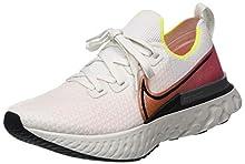 Nike React Infinity Run Flyknit, Scarpe da Corsa Uomo, Grigio (Platinum Tint/Black-Pink Blast), 44 EU