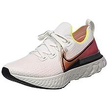 Nike Men's React Infinity Run Flyknit Shoe, Grigio Platinum Tint Black Pink Blast, 8 UK
