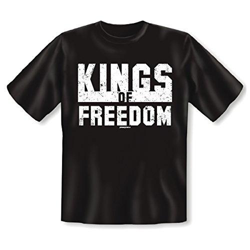 T-Shirt ::: Kings of Freedom ::: Herren Schwarz Schwarz